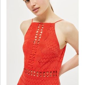 Topshop Dresses - Top shop lace high neck dress